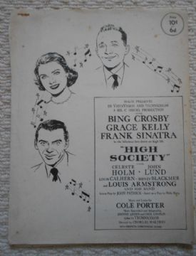 High Society, 18 pages, story of the motion picture, Bing Crosby, Grace Kelly 57